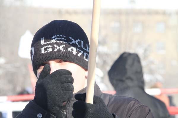 Митингующие не испугались 30-градусных морозов