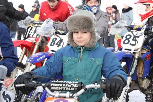 Самый юный участник гонки Сергей Орлов, 6 лет