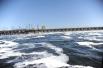 Сброс воды на Волжской ГЭС