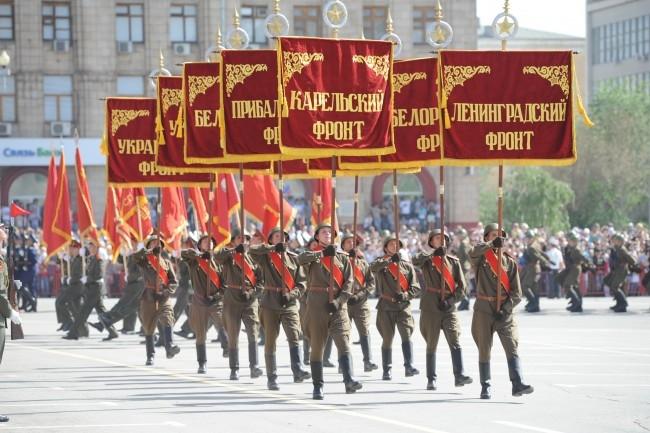 Штандарты фронтов и соединений, участвующих в Сталинградской битве