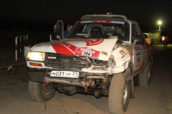 Участник гонки попал в ДТП
