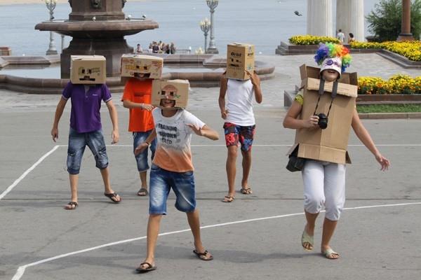 Флешмоб «Роботы» в Волгограде
