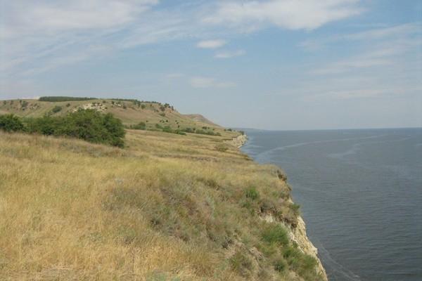 Вид на Волгоградское водохранилище