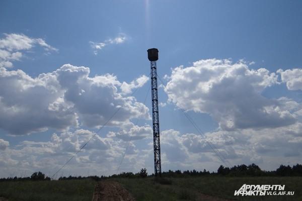 Высота вышки для наблюдения за пожарами - 36 метров