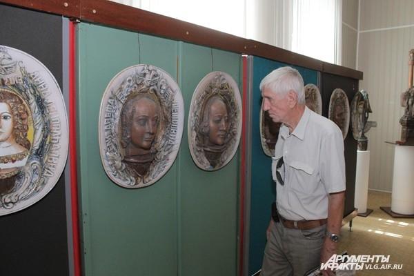 Посетитель в музее
