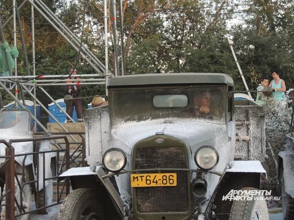 Ретро-автомобиль, задействованный в постановке