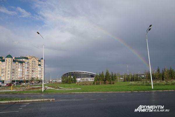 Праздник Универсиады играл в Казани всеми цветами радуги