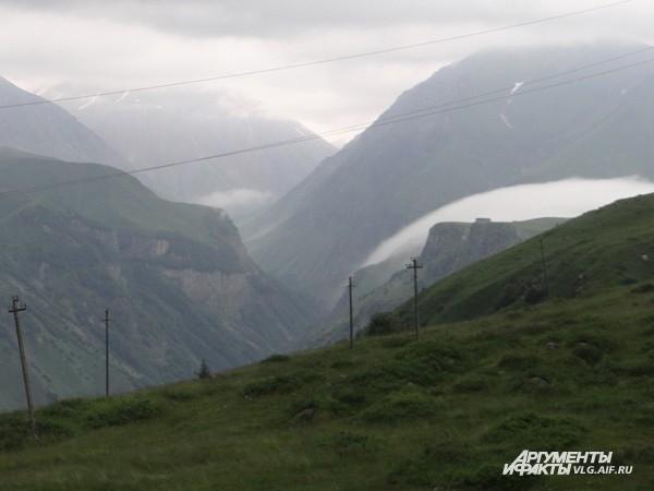 Пейзаж, нарисованный камнем и туманом