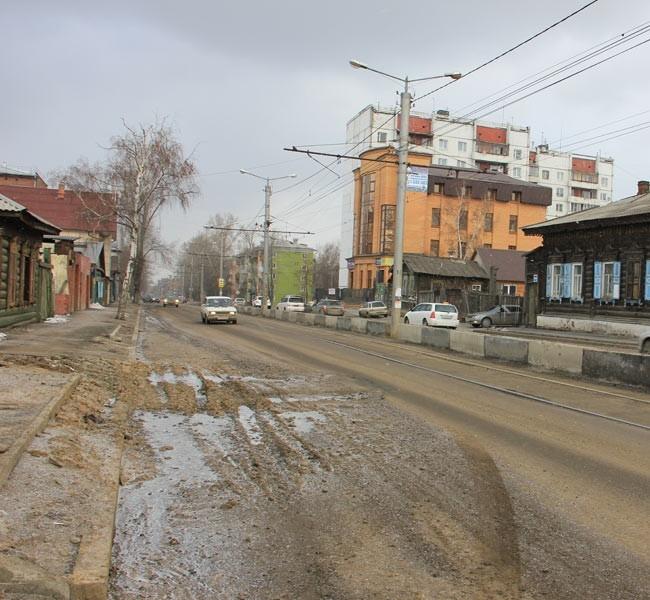 ул. Партизанская (участок, отремонтированный в прошлом году)
