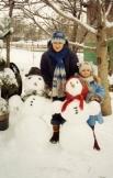Вот таких снеговиков мы слепили вместе с мамой
