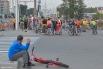 В общей сложности участники прошли 15 километров.