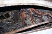 От сильного удара корейский седан вынесло с трассы в кювет, где он загорелся.