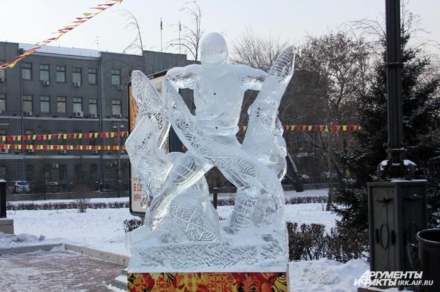 Каждая фигура символизирует олимпийский спорт.