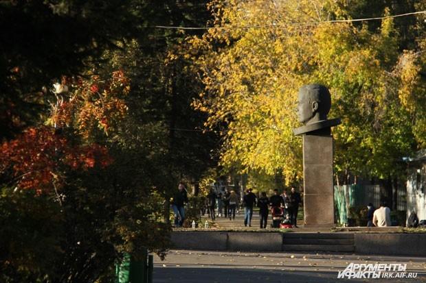 Вид на памятник Юрию Гагарину