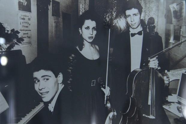 Группа музыкантов с Денисом Мацуевым.Иркутск, 1995 год.