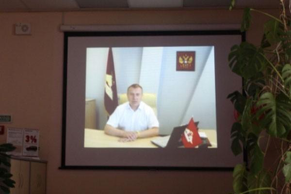 Поздравление старшего вице-президента компании РОСГОССТРАХ Владимира НЕЧЕПЫ. В своём видеообращении из Москвы поблагодарил коллег на Камчатке за отличную работу и пожелал дальнейших успехов