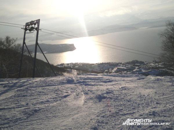 А это лыжная база «Красная сопка»