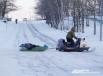 На снегоходах и буранах здесь ездят чаще, чем на автомобилях…
