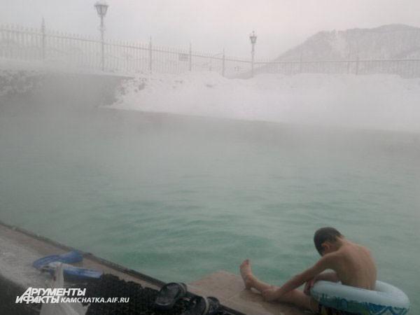 А в Паратунке было особенно хорошо: морозный воздух и горячая водичка