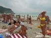 На солнечном пляже. Чёрное море, Краснодарский край