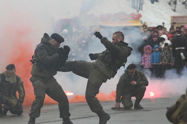 Показательные выступления от камчатских бойцов
