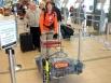 Аэропорт Канады. Вещей у туристов немало — с собой на Камчатку они везли снаряжение и велосипеды…
