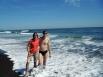 Первым делом —купание в Тихом океане!