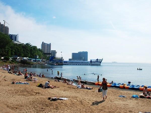 Пляж во Владивостоке