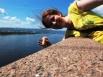 Красноярск —коммунальный мост через Енисей