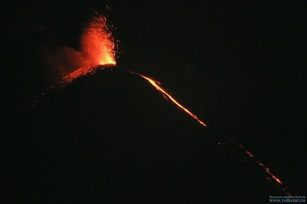 Фонтанирование лавы