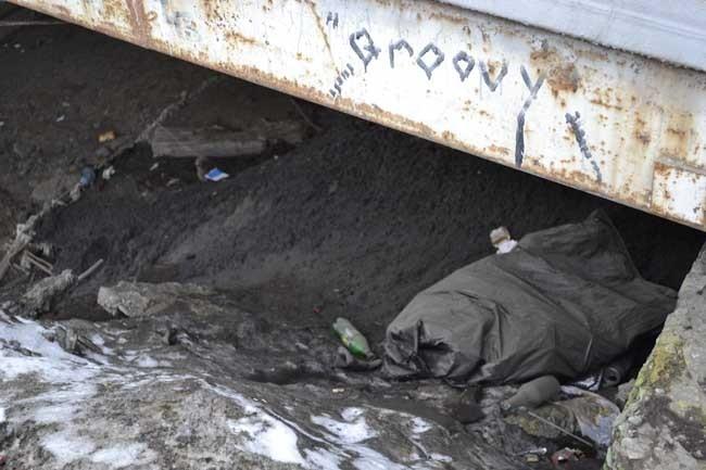Это догадка, но, кажется, что городские дворники мусор никуда не вывозят, а складывают под Искитимский мост. Очень удобно