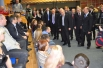 Встреча премьер-министр России Владимира Путина с гостями центра дзюдо.