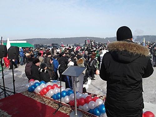 Зрителей и болельщиков на «Зимней линим» было много