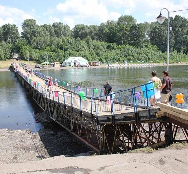 Торжественное открытие моста на остров Кемеровский