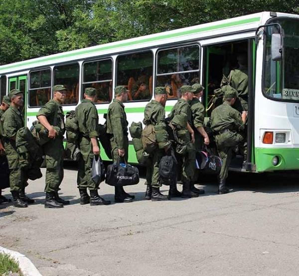Посадка в автобус. Пора отбывать