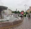 Фонтан на площади у драматического театра