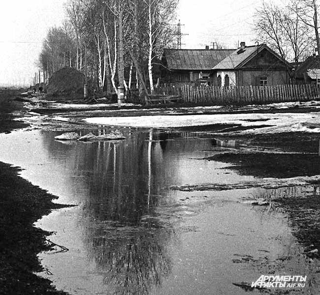 1968 г.   Весна в селе Тальжино
