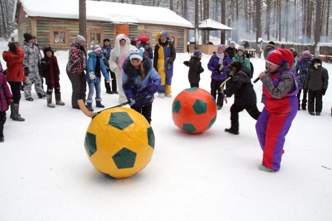 Даже мороз в этот день не стал преградой для веселья!