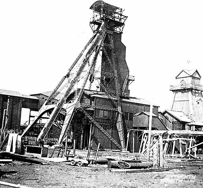 Из архива Прокопьевского рудника. Строится шахта «Коксовая». 1930-е годы
