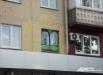 Несогласованный стрит-арт пришлось закрасить. От Царевны-лягушки осталось только лицо. Жилой дом (пр. Ленина, 117)