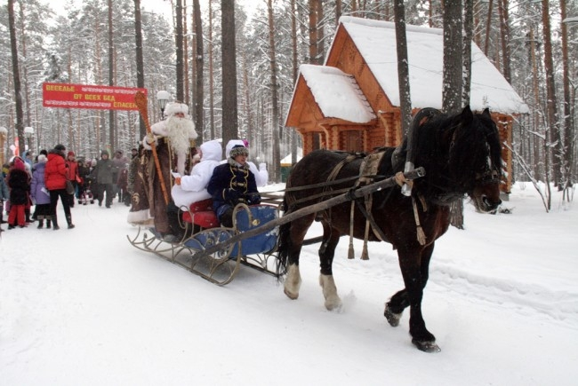 Как и подобает настоящему хозяину, Дед Мороз объехал свои владения