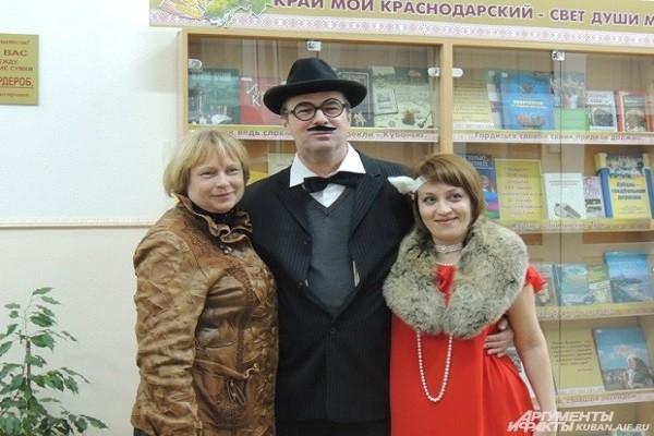 Читателей библиотеки встречал Киса Воробьянинов