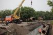 Укладка трубопровода диаметром 820 мм на ул. 60 лет Октября.