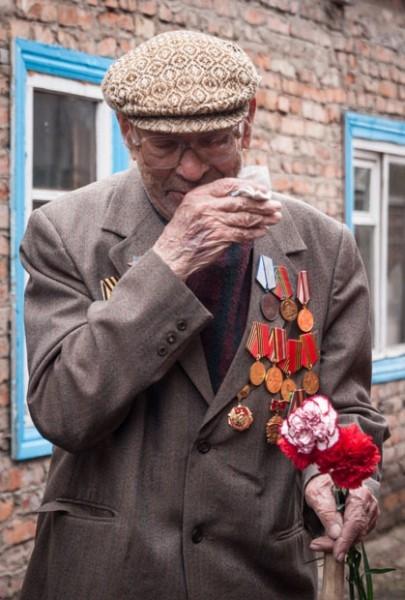 В поселке Чулым остался лишь один ветеран - Павел Дудков.