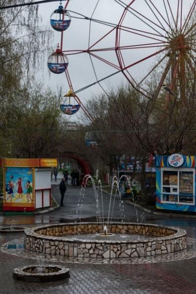 Фонтан в парке Троя