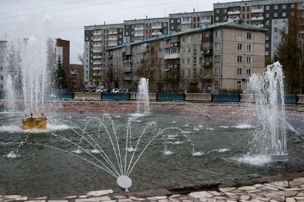 сквер Серебряный возле администрации Октябрьского района