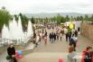 Красноярцы после окончания официальной части праздника отправились гулять
