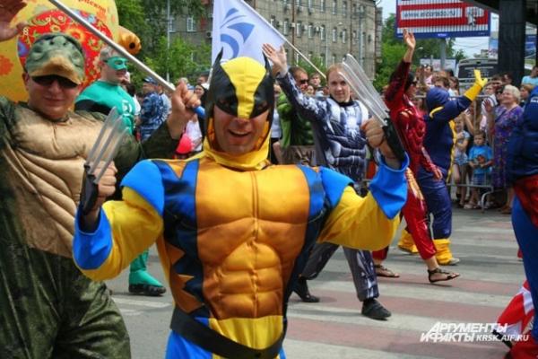 Герои присоединились к празднованию Дня города
