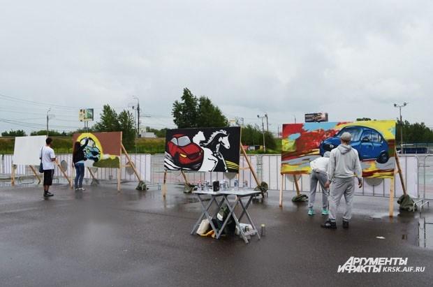 Mazda предлагала обучиться граффити