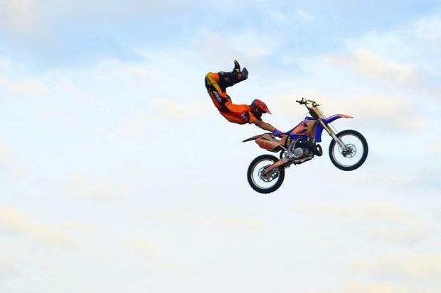 Частичный отрыв от мотоцикла